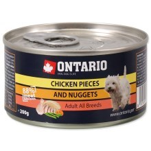 Ontario konzerva Chicken Pieces + Chicken Nugget 200 g
