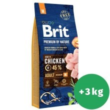 Brit Premium by Nature Adult M 15 + 3 kg ZADARMO