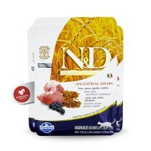 N&D Ancestral Grain Cat Adult Lamb & Blueberry 300 g