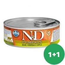 N&D Cat Pumpkin Adult Boar & Apple 80 g SET 1+1 ZADARMO