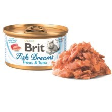 Brit konzerva Fish Dreams Trout & Tuna 80 g