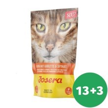 Josera Cat Soup Chicken with Carrots & Spinach 70 g SET 13 + 3 ZADARMO