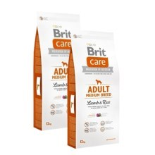 Brit Care Dog Adult Medium Breed Lamb & Rice SET 2x 12 kg