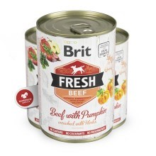 Brit Fresh Dog konzerva Beef with Pumpkin 400 g