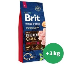 Brit Premium by Nature Adult L 15 + 3 kg ZADARMO