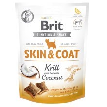 Funkčné maškrty Brit Care Dog Skin & Coat Krill 150 g