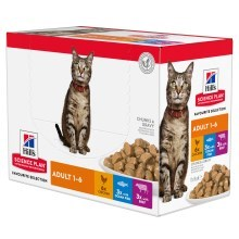 Hill 'Feline Adult Chicken & Beef & Ocean Fish kapsičky 12x 85 g