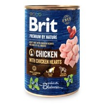 Konzerva Brit Premium by Nature Chicken & Hearts 400 g