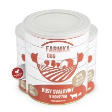 Konzerva Farmka Dog so svalovinou 800 g
