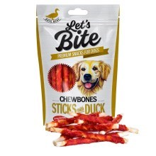 Maškrty Brit Let 's Bite Chewbones Sticks with Duck 300 g
