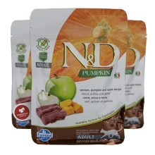 N&D GF Pumpkin Cat Venison & Apple 300 g