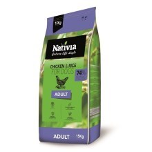 Nativia Adult Chicken & Rice 15 kg