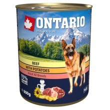 Ontario konzerva Beef, potatos, Sunflower Oil (800 g)