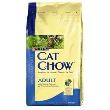 Purina Cat Chow Adult tuniak, losos 1,5 kg
